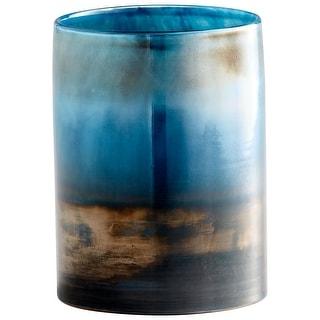 "Cyan Design 10007  Reina 5-1/2"" Diameter Glass Vase - Pyrite"