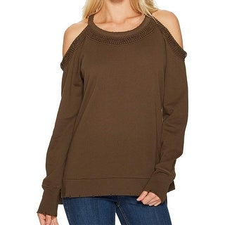 Joe's Jeans Womens Small Cold-Shoulder Sweatshirt