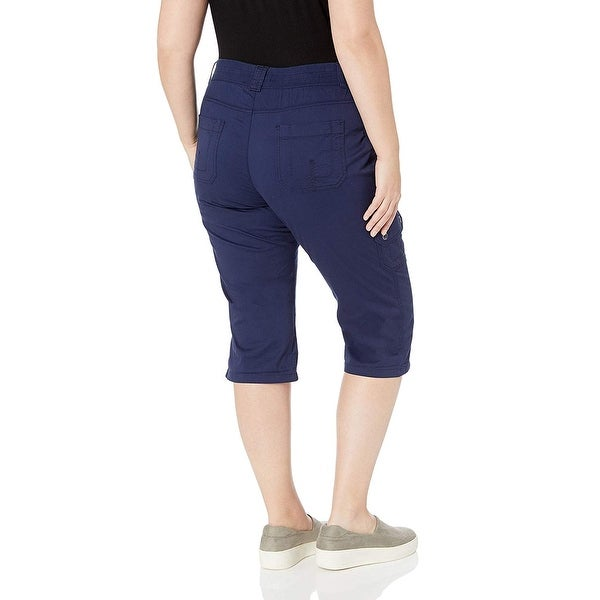 Lee Womens Flex-to-go Relaxed Fit Zipper Pocket Capri Pant Pants