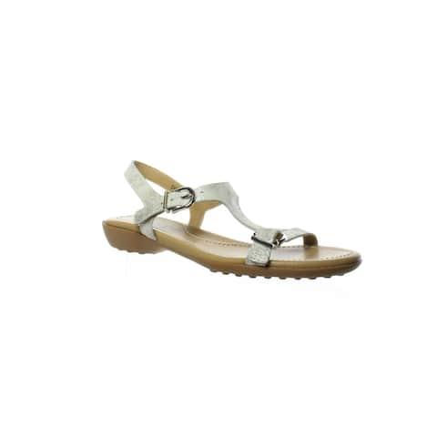 VANELi Womens Taletha Silver Gomez Ankle Strap Sandals Size 5