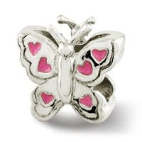Sterling Silver Reflections Kids Enameled Butterfly Bead (4mm Diameter Hole)