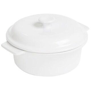 Anchor Hocking 95924  Covered Casserole Dish, 3.5 Quart, White Ceramic