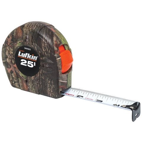 "Lufkin CMOH625 Tape Measure, Camouflage, 1"" x 25'"