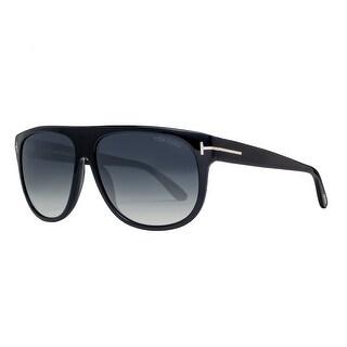 Tom Ford Kristen TF 375 02N 59mm Black/Grey Gradient Unisex Square Sunglasses - Black - 59mm-13mm-145mm