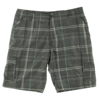 Burnside Mens Plaid Microfiber Cargo Shorts - 38