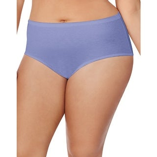 Just My Size Cotton TAGLESS® Brief Panties  8-Pack - Size - 10 - Color - Assorted
