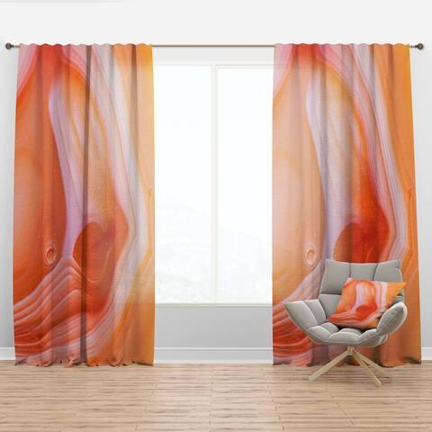 Carson Carrington Tannback 'Mineral Orange Agate' Mid-CenturyCurtain Panel