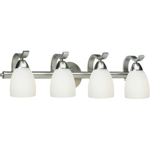 """Forte Lighting 5045-04 4 Light 26"""" Wide Bathroom Fixture from the Bath Collection"""