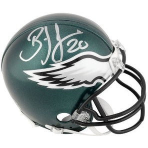 Brian Dawkins signed Philadelphia Eagles Full Size Replica Helmet #20- JSA Hologram