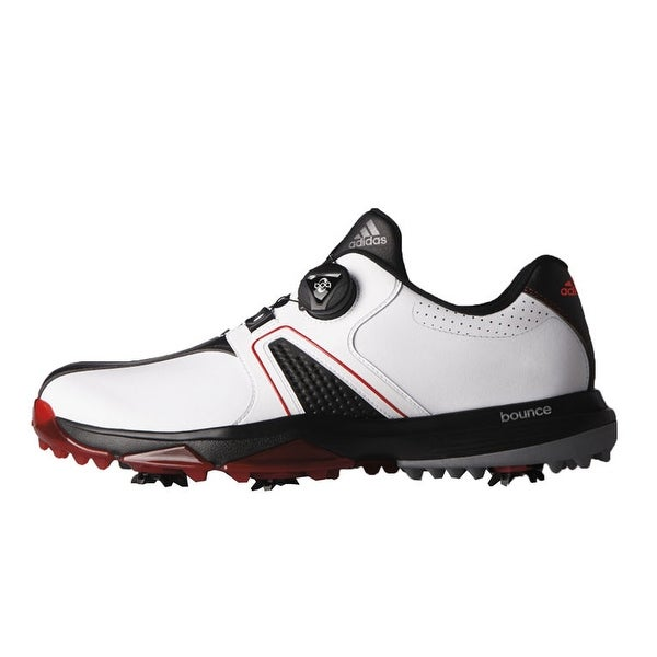 0f77363b567 Shop Adidas Men s 360 Traxion BOA White Core Black Red Golf Shoes ...