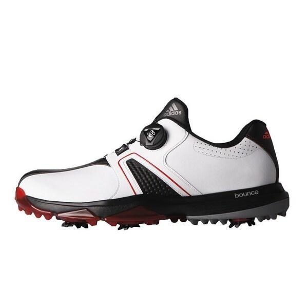 a6c50d1b69f3b Shop Adidas Men s 360 Traxion BOA White Core Black Red Golf Shoes ...