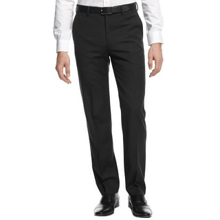 DKNY Mens Dress Pants Wool Pindot