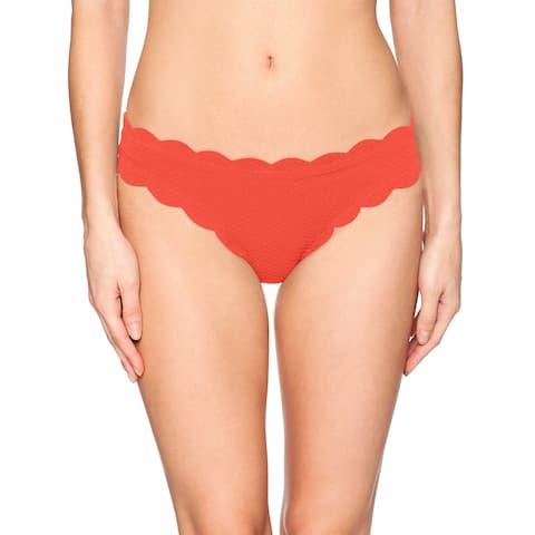 Jessica Simpson Red Women's Size XL Bikini Bottom Scalloped Swimwear