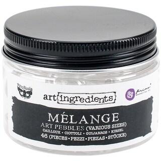 Finnabair Art Ingredients Melange Art Pebbles 46/Pkg-Assorted Sizes