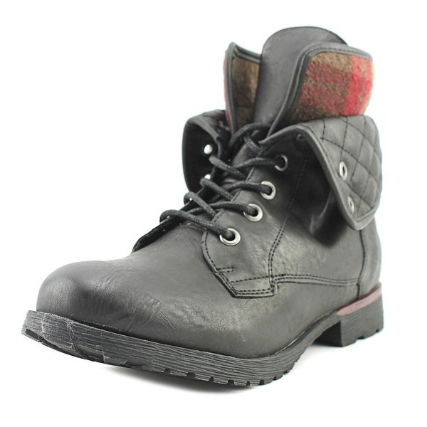 Rock & Candy Spraypaint Quilted Black/Red Boots