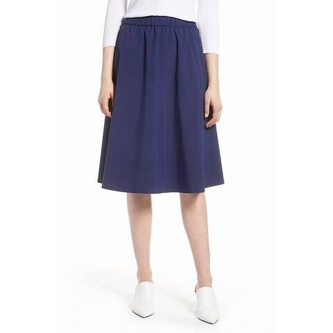 Halogen Navy Peacoat Women's Petite A-Line Skirt