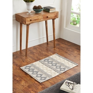 Better Trends Diamond Bar CollectionSoft Durable Indoor Area Utility Rug 100% Cotton in Vibrant Color