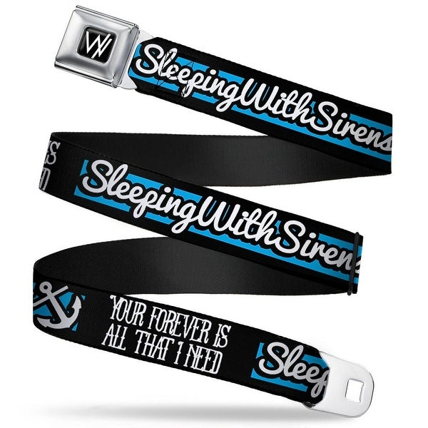 Sleeping With Sirens W Logo Full Color Black White Sleeping With Sirens Seatbelt Belt