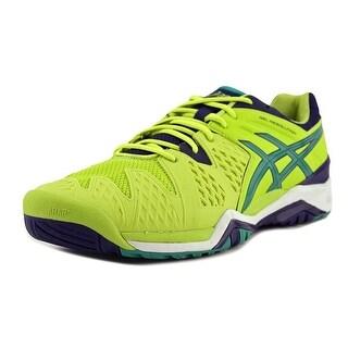 Asics Gel-Resolution 6 Men Round Toe Synthetic Green Tennis Shoe