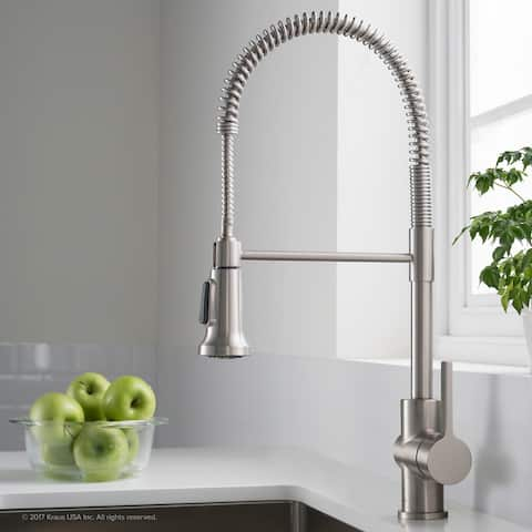 Kraus Britt Commercial 3-Function 1-Handle Pulldown Kitchen Faucet