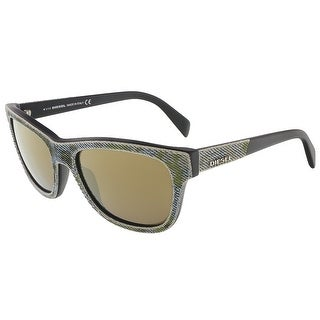Diesel DL0111/S 98G Camoflague Green/Blue Denim Wayfarer sunglasses