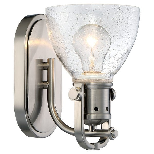 Minka Lavery 3411-84 1 Light Bathroom Sconce from the Seeded Bath Art Collection - Brushed nickel