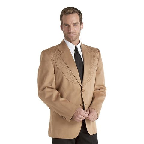 Circle S Western Sport Coat Mens Galveston Boot Stitch Yoke