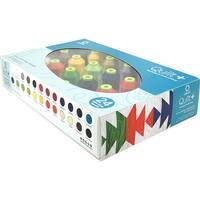 Quilt + Polytri Thread Boxed Assortment 1100Yd-Assorted Colors 24/Pkg