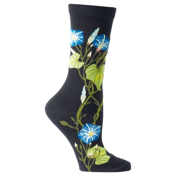 Women's Witches' Garden and Apothecary Floral Socks - Cotton - Morning Glory - Medium