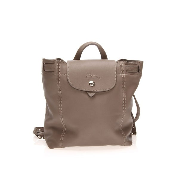df1229198820 Shop Longchamp Le Pliage Cuir Backpack Xs In Gray - One Size - Free  Shipping Today - Overstock - 26301248