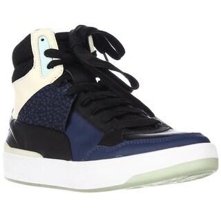 Puma Alexander McQueen MCQ Brace Femme Mid Fashion Sneakers - Black Icelandic Blue