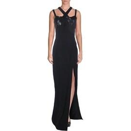 Michael Kors Womens Sequined Off Shoulders Evening Dress - 10