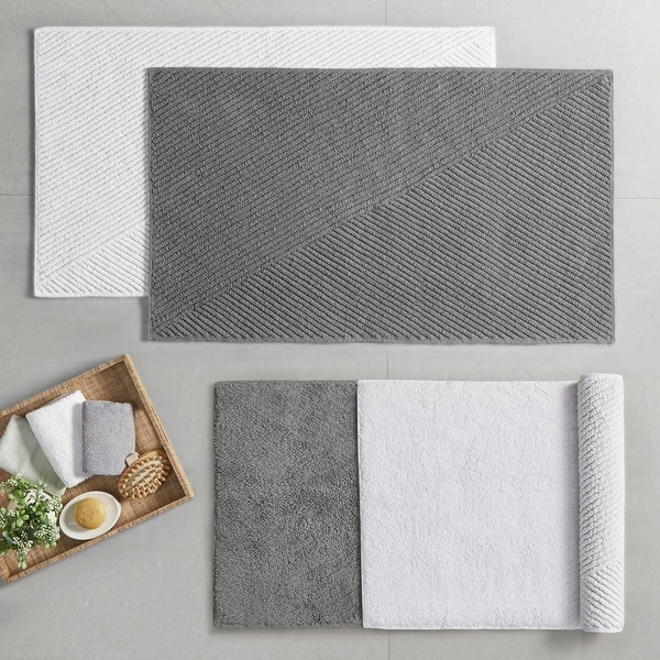 Loft 100-percent Cotton Reversible Antimicrobial Bath Rug by Clean Spaces. Opens flyout.
