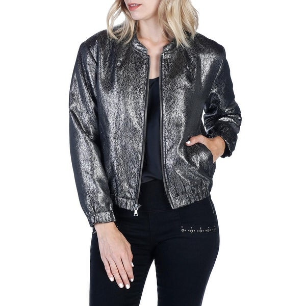 Paige Women's Large Bomber Full-Zipped Seamed Jacket