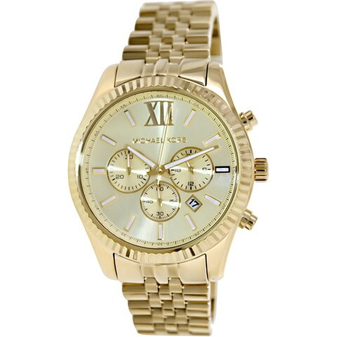Michael Kors Men's Lexington Gold Stainless-Steel Fashion Watch