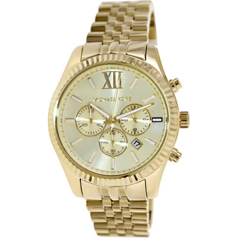 f2ed61d924ce Michael Kors Men s Lexington Gold Stainless-Steel Fashion Watch