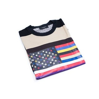 Givenchy Men's Multicolor American Flag Graphic T-Shirt