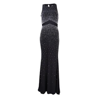 Xscape Women's Caviar Bead Illusion-Waist Jersey Gown
