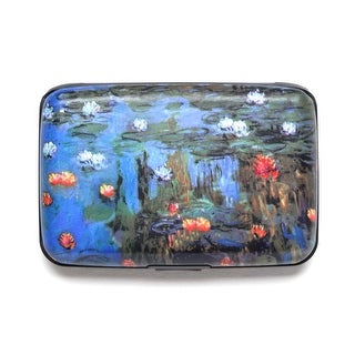 Women's Fine Art Identity Protection RFID Wallet - Water Lilies - Medium