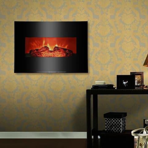 26'' Wall Mounted Electric Fireplace 750W/1400W Firebox Modern Adjustable Space Heater