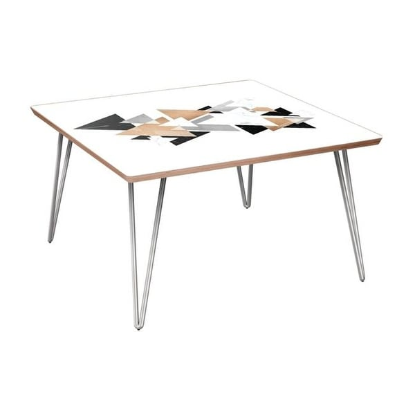 Mason Hairpin Coffee Table Marble Gold Walnut Chrome