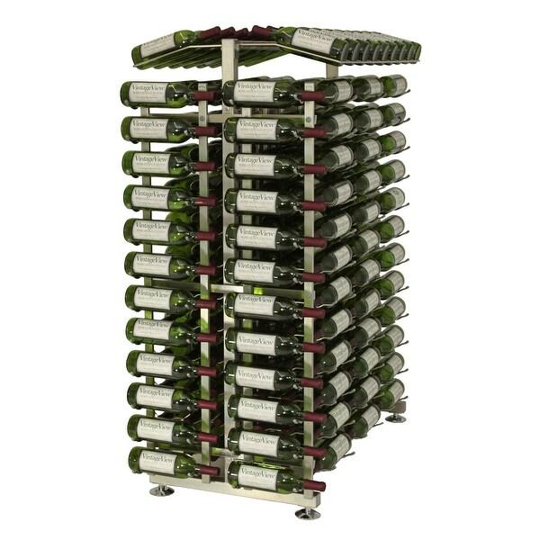 VintageView IDR4-EC 24-Bottle 4-Foot Island Display Rack Endcap