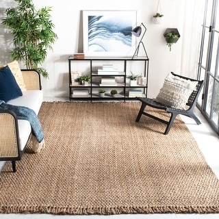 Link to Safavieh Handmade Natural Fiber Cove Jute Rug with Fringe Similar Items in Farmhouse Rugs