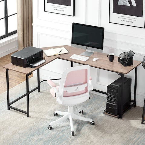 VECELO Broad L-shaped Office Desk