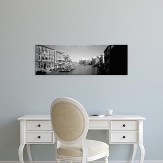 Easy Art Prints Panoramic Images's 'Buildings along a canal, Grand Canal, Venice, Italy' Premium Canvas Art