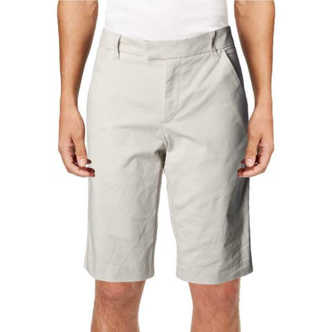 Ivanka Trump Womens Bermuda Shorts Khaki Stretch Cotton