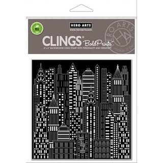 "Hero Arts Cling Stamps 6""X6""-Urban Skyline Bold Prints"