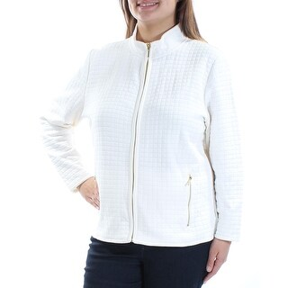 Womens White Zip Up Jacket Size XL