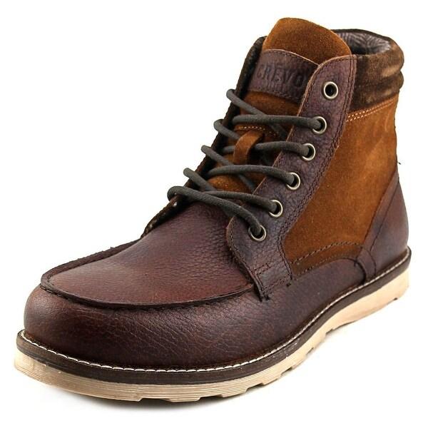 Crevo Welcroft Men Round Toe Leather Boot