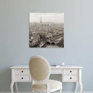 Easy Art Prints Alan Blaustein's 'Above Paris #25' Premium Canvas Art
